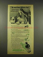 1944 Absorbine Jr. Ad - Must Have Athlete's Foot