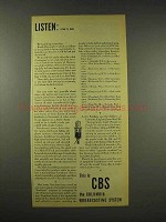 1944 CBS Columbia Broadcasting System Ad - April 17