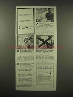 1944 Metropolitan Life Insurance Ad - Cancer
