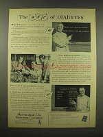 1944 Metropolitan Life Insurance Ad - ABC of Diabetes