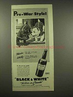 1944 Black & White Scotch Ad - Pre-War Style