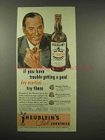 1944 Heublein's Club Cocktails Ad - Good Dry Martini