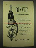 1944 Renault Extra-Dry American Champagne Ad