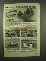 1944 Evinrude Outboard Motor Ad - From Arctic to Tropic