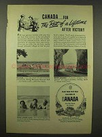 1944 Canada Tourism Ad - The Rest of a Lifetime