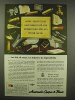 1944 Anaconda Copper & Brass Ad - More Substitutes