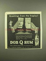 1944 Don Q Rum Ad - Greetings From the Tropics