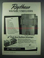 1943 Raytheon Voltage Stabilizer Ad - Endbell Model