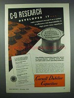 1943 Cornell-Dubilier Type 59 Mica Capacitor Ad