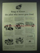1943 Sperry Gyroscope Ad - Pilot Never Gets Tired