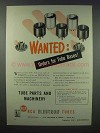 1943 RCA Electron Tubes Ad - Orders for Tube Bases