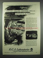 1943 RCA Laboratories Ad - Approach As Planned