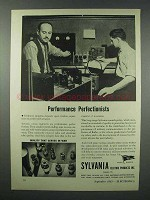 1943 Sylvania Electric Ad - Performance Perfectionists