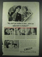 1943 Ipana Toothpaste Ad - Why Don't You Confess