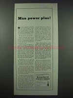 1943 Metropolitan Life Insurance Ad - Man Power Plus