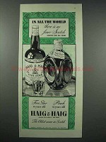 1943 Haig & Haig Scotch Ad - In All The World