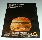 Vintage McDonald's Big Mac Ad - A Meal Disguised