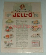 1918 Jell-o Ad - The Big Dessert Little Price