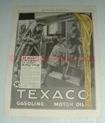 1923 Texaco Gas Ad - All Aboard No Delay