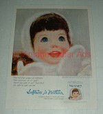 1962 Northern Snow White Tissue Toilet Paper Ad - Girl