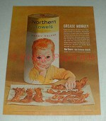 Vintage Northern Paper Towels Ad - Grease Monkey, Boy