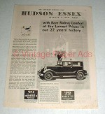 1931 Essex Super Six Coach Car Ad - Riding Comfort