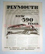 1930 Plymouth 4-door Sedan Ad - Finer!