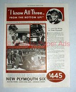 1933 Plymouth Six Car Ad - From the Bottom Up!