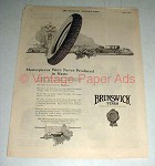 1921 Brunswick Tires Ad - Masterpieces Never in Haste