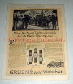 1920 Gruen Watch Ad, No. 91, 92, 93 - Masterpieces