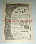 1912 Elgin Watch Ad - For Three Subscriptions