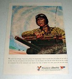 1943 WWII Western Electric Telephone Ad - Armored Force