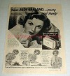 1943 Lux Soap Ad w/ Judy Garland - Young, Lovely