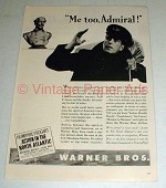 1943 Action in the North Atlantic Movie Ad - Bogart