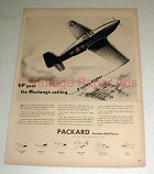 1943 WWII Packard Mustang Fighter Plane Ad - NICE