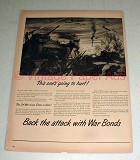 1943 WWII US War Bonds Ad w/ Tank - Going to Hurt!