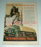 1944 WWII International Harvester Truck Ad - Fuel!