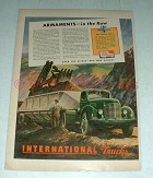 1944 WWII International Harvester Truck Ad - Armaments