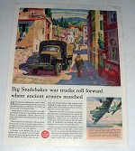 1944 WWII Studebaker Truck Ad - Ancient Armies Marched