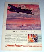 1944 WWII Studebaker Flying Fortress Ad - Have Faith