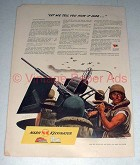 1944 WWII Nash Anti-Aircraft Gun Ad - How it Was!