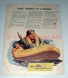 1944 WWII Nash Ad w/ Soldier in Life-raft