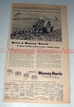 1955 Massey-Harris 44 Special Tractor w/ 37 Plow Ad!