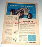 1955 Ferguson 35 Tractor Ad - Does it Again