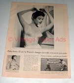 1958 Warner's A'Lure Bra Ad - Every Move You Make!