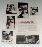 1965 Foster Grant Sunglasses Ad w/ Peter Sellers