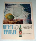 1966 7-Up Seven-Up Soda Ad - Wet & Wild