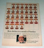 1967 Kentucky Fried Chicken Ad - Best in a Month