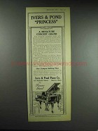 1926 Ivers & Pond Princess Miniature Grand Piano Ad