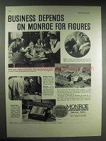 1937 Monroe Adding Machine Ad - Business Depends On